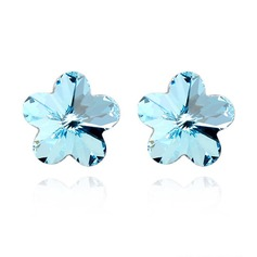 Flower Shaped Alloy With Imitation Crystal Ladies' Fashion Earrings