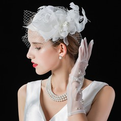 Ladies' Beautiful/Fashion/Elegant Cambric With Tulle Fascinators/Tea Party Hats