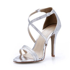 Women's Sparkling Glitter Stiletto Heel Sandals Pumps shoes (087047298)
