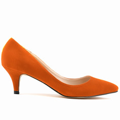 Women's Suede Cone Heel Pumps Closed Toe shoes
