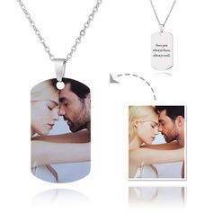 Custom Engraving/Engraved Tag Mens Necklace Color Printing Photo Necklace - Mother's Day Gifts (288234223)