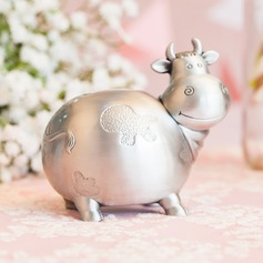 14cm*9cm*12.5cm Cow Shaped Tin Alloy Money Box
