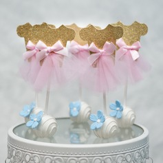 Classic/It's a Girl card paper Cake Topper (Sold in a single piece)