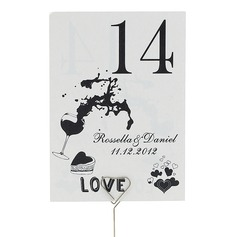Personalized Delicate Pearl Paper Table Number Cards