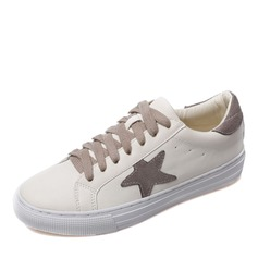 Women's Leather With Lace-up Sneakers & Athletic