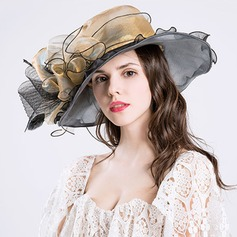 Ladies' Gorgeous Organza With Bowknot Floppy Hat