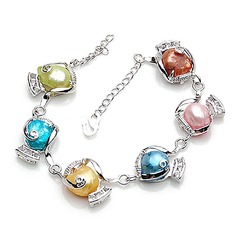 Gorgeous Alloy Imitation Pearls With Imitation Pearl Women's Fashion Bracelets (Sold in a single piece)