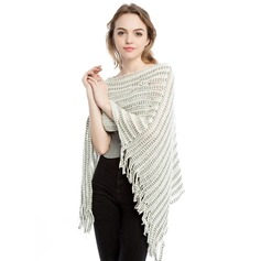 Solid Color Oversized/fashion/simple Cashmere Poncho