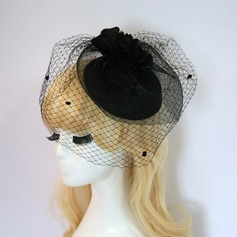Ladies' Glamourous/Elegant/Exquisite Net Yarn/Silk Flower With Silk Flower Fascinators
