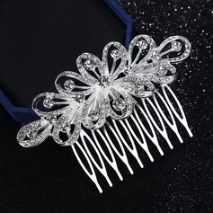 Beautiful Alloy Combs & Barrettes With Rhinestone (Sold in single piece)