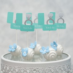 "Happy Anniversary/""The best is yet to come"" card paper Cake Topper (Sold in a single piece)"