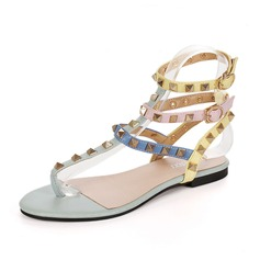 Women's Leatherette Flat Heel Sandals Slingbacks shoes