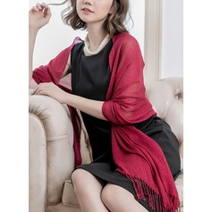Solid Color Shawls Polyester Poncho (204167800)