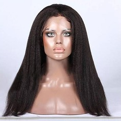 4A Non remy Kinky Straight Human Hair Full Lace Wigs