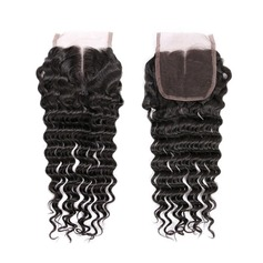 "4""*4"" 5A Virgin/remy Deep Human Hair Closure (Sold in a single piece) 30g"