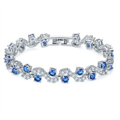 Shining Platinum Plated With Zircon Ladies' Fashion Bracelets