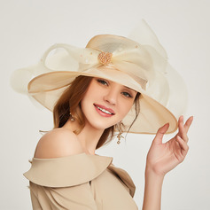 Ladies' Gorgeous/Unique/Exquisite Organza With Rhinestone Floppy Hats