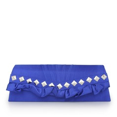 Fashional Silk With Metal/Ruffles Clutches