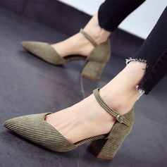 Women's Chunky Heel Pumps Closed Toe shoes