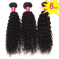 8 inch 8A Brazilian Virgin Human Hair Kinky Curly(1 Bundle 100g)