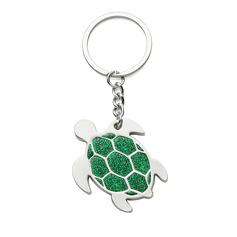 Personaliseret Tortoise Zinklegeret Nøgleringe