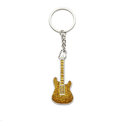 Personalized Guitar Zinc Alloy Keychains
