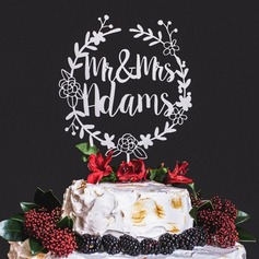 Personalized Acrylic/Wood Cake Topper