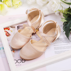 Girl's Round Toe Closed Toe Silk Like Satin Flats Sneakers & Athletic Flower Girl Shoes With Velcro (207204373)