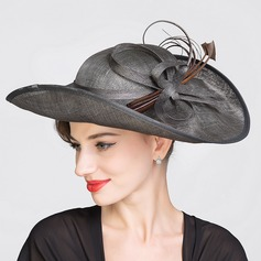 Ladies' Glamourous Spring/Summer Cambric With Bowler/Cloche Hat