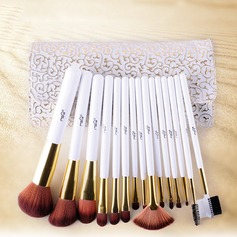 Pure 15Pcs Artificial Fibre White Pouch Makeup Supply