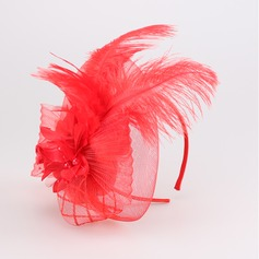 Dames Fantaisie Batiste/Feather Chapeaux de type fascinator
