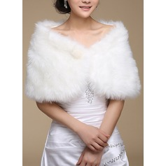 Faux Fur Wedding Wrap (013183413)