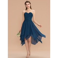 6f6ac0109f7e A-Line/Princess V-neck Floor-Length Chiffon Lace Bridesmaid Dress ...