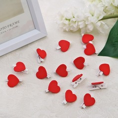 Lovely Heart Design Wooden Clip