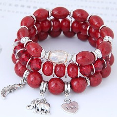 Chic Alloy Resin Women's Fashion Bracelets (Set of 3)