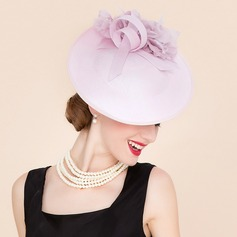 Ladies' Romantic Cambric With Silk Flower Fascinators