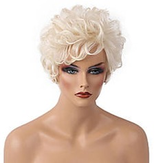 4A Non remy Curly Human Hair Capless Wigs (219152792)
