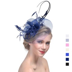 Ladies ' Elegant Kambriske med Fjer Fascinators (196119277)