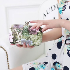 Attractive PU Clutches/Satchel (The pattern on the bag is random)
