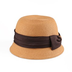 Ladies' Charming Papyrus With Bowknot Straw Hat