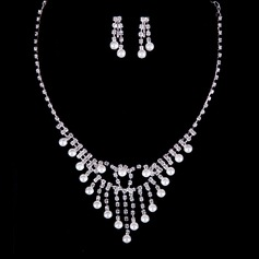 Exquisite Rhinestones/Faux Pearl Ladies' Jewelry Sets