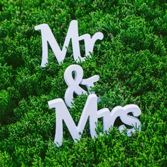 "PVC ""Mr. & Mrs.""  Decorative Accessories"