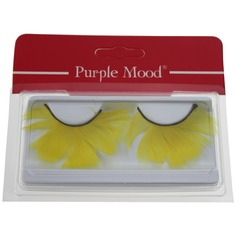 1 Pair Fancy Yellow Feather False Eyelashes CFE414
