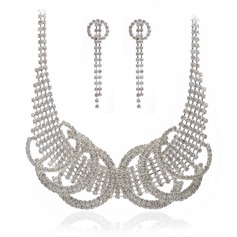 Fashional Alloy/Crystal Ladies' Jewelry Sets