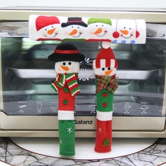 Snowman Kitchen Appliance Handle Covers - Set of 3 - Christmas Decoration Idea (Set of 6) Gifts