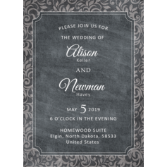Impressed Frame Wedding Cards (114110293)