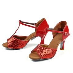 Women's Sandals Latin With T-Strap Dance Shoes (053113402)