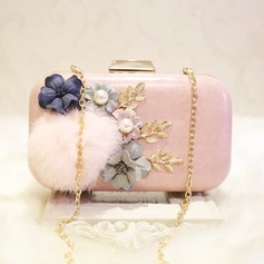 Lovely PU/Alloy Clutches