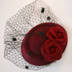 Ladies Classic Net Yarn/Flannelette Fascinators