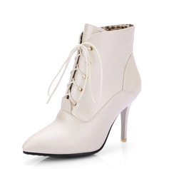 Femmes Similicuir Talon stiletto Bottines chaussures